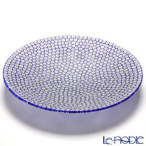 Ercole Moretti 'Millefiori / Thousand Flowers' Cobalt Blue x Yellow Round Plate 24cm