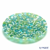 Ercole Moretti 'Millefiori / Thousand Flowers' Green Mix Round Plate 24cm