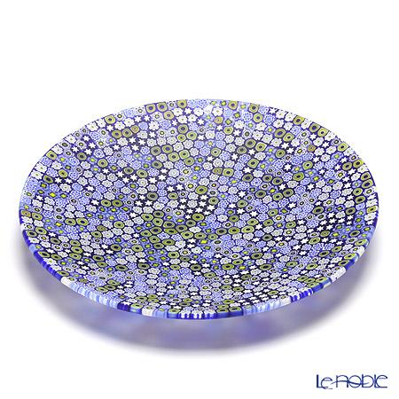 エルコーレモレッティ ミレフィオーリ プレート 24cm ブルー系(212)