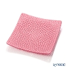Ercole Moretti Millefiori Pink Square Plate 13.5x13.5cm