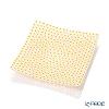 Ercole Moretti 'Millefiori / Thousand Flowers' Yellow x White (Chamomile) Square Plate 13.5x13.5cm