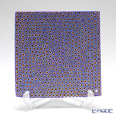 ercole moretti & f.lli plate 18 x 18 cm Light blue / yellow (19)
