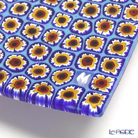 Ercole Moretti Millefiori Blue x Red x Yellow Square Plate 17.5x17.5cm