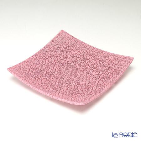 エルコーレモレッティ ミレフィオーリ プレート 18×18cm ピンク(33)