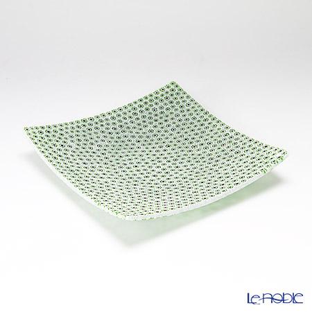 ercole moretti & f.lli plate 18 x 18 cm Adzuki bean x green (65)