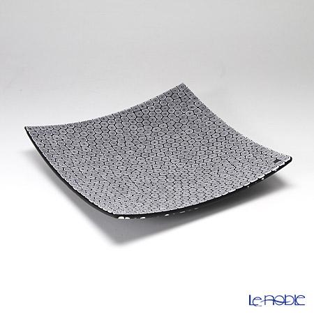 エルコーレモレッティ ミレフィオーリ プレート 18×18cm ネンリン/ブラック(66)
