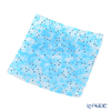Ercole Moretti 'Millefiori / Thousand Flowers' Light Blue Square Plate 17.5x17.5cm