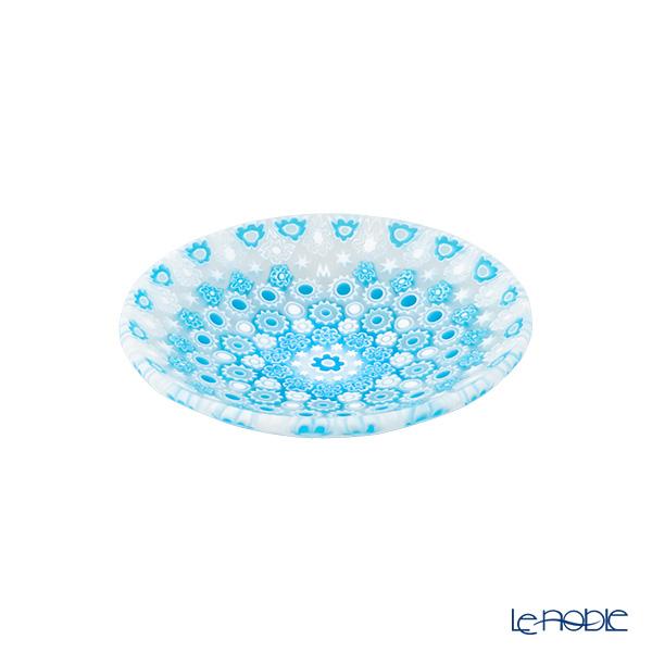 エルコーレモレッティ ミレフィオーリ プレート 8cm古代ローマモザイク ライトブルー系