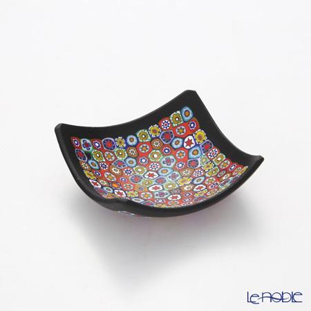 エルコーレモレッティ ミレフィオーリ スモールボウル 8×8cmゲンショク多彩(100) ブラックフレーム