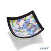 Ercole Moretti Mirafiori small bowl Pastel multicolored 200 black frame 8 x 8 cm