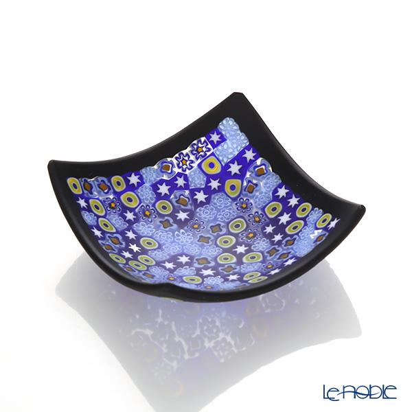エルコーレモレッティ ミレフィオーリ スモールボウル 8×8cm ブルー系(212) ブラックフレーム