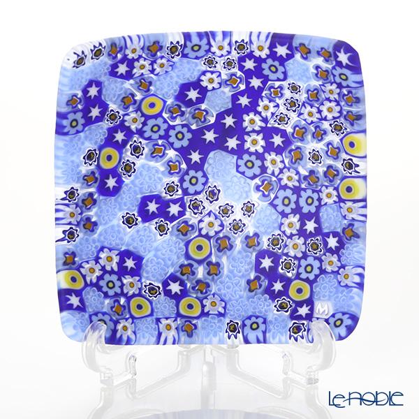 Ercole Moretti 'Millefiori / Thousand Flowers' Blue Mix Small Square Bowl 7.8x7.8cm