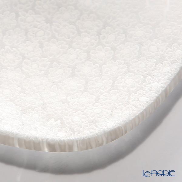 Ercole Moretti 'Millefiori / Thousand Flowers' White Flexi Square Plate 8x8cm