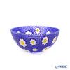 Ercole Moretti 'Millefiori / Thousand Flowers - Sakura' Cobalt Blue Bowl 14cm