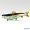 Vittorio Costantini 'Glass Art' Brown Green White Fish 11.5cm (L)