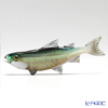 Vittorio Costantini 'Glass Art' Dark Green White Brown Fish 11.5cm (L)