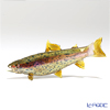 Vittorio Costantini 'Glass Art' Beige Blue-Dot Pink-Line Iwana Trout Fish 15cm