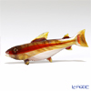 Vittorio Costantini 'Glass Art' Brown White Red-Line Fish 9.5cm (S)