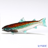 Vittorio Costantini 'Glass Art' Brown Turquoise Blue White Fish 9cm (S)