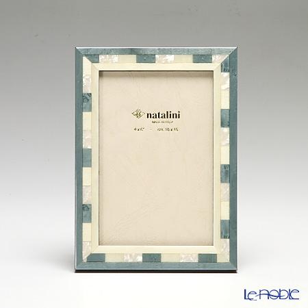 ナタリーニ 象嵌フォトフレーム 10×15cm QH/20 ライトブルー