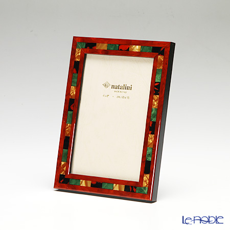 Natalini 'QH/20' Red Italian Marquetry Picture Frame