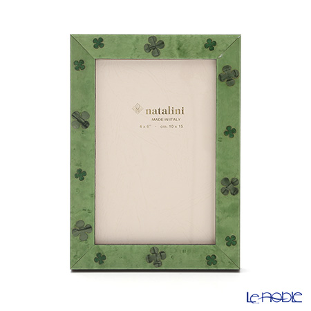 Natalini 'Clover' Green Italian Marquetry Picture Frame