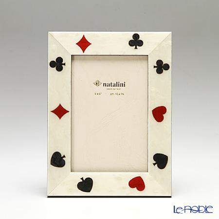 ナタリーニ 象嵌フォトフレーム 10×15cmFortuna トランプ
