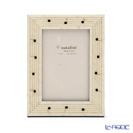 Natalini 'Note / Staff Notation' White Italian Marquetry Picture Frame