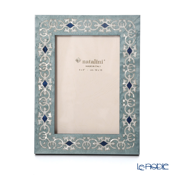 Natalini 'Marrakech' Blue Italian Marquetry Picture Frame