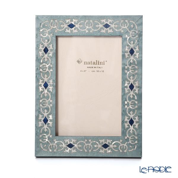 ナタリーニ 象嵌フォトフレーム 10×15cm MARRAKECH ブルー