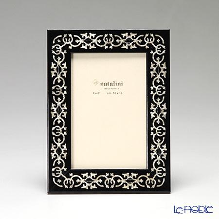 ナタリーニ 象嵌フォトフレーム 10×15cmMARRAKECH ブラック