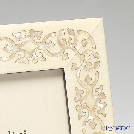 ナタリーニ 象嵌フォトフレーム 10×15cmMARRAKECH ホワイト