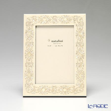 ナタリーニ 象嵌フォトフレーム 10×15cm MARRAKECH ホワイト