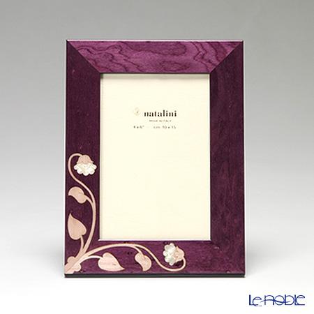 ナタリーニ 象嵌フォトフレーム 10×15cmSIENA バイオレット
