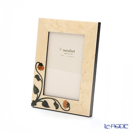 Natalini 'Siena' Ivory x Flower Italian Marquetry Picture Frame