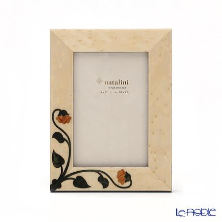ナタリーニ 象嵌フォトフレーム 10×15cmSIENA アイボリー