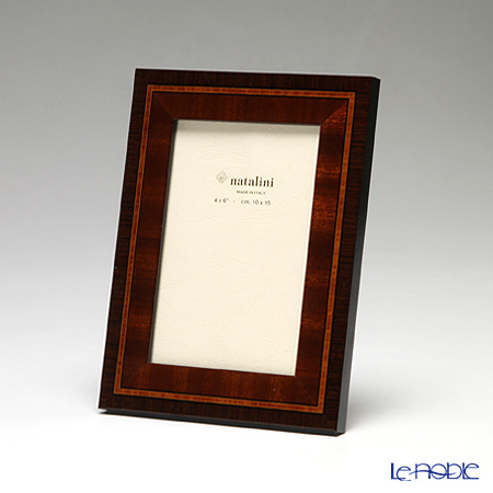 Natalini 'Stemma' Brown Italian Marquetry Picture Frame