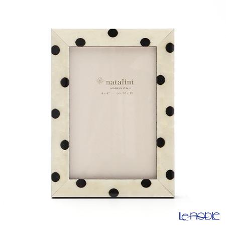 Natalini inlay photo frame 10 x 15 cm Polka dot white on black