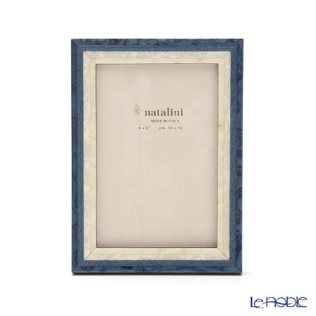 ナタリーニ 象嵌フォトフレーム 10×15cmスタジオ ブルー