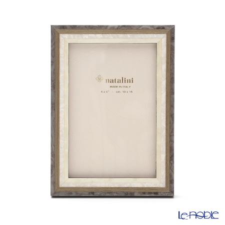 ナタリーニ 象嵌フォトフレーム 10×15cmスタジオ グレー