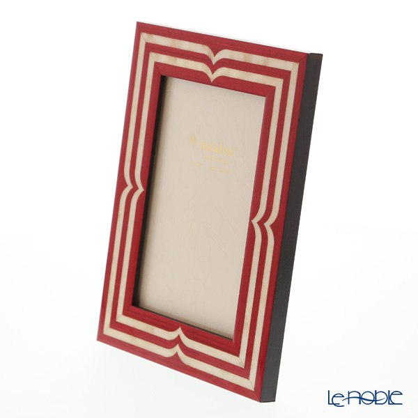 Natalini 'Bellagio' Red Italian Marquetry Picture Frame