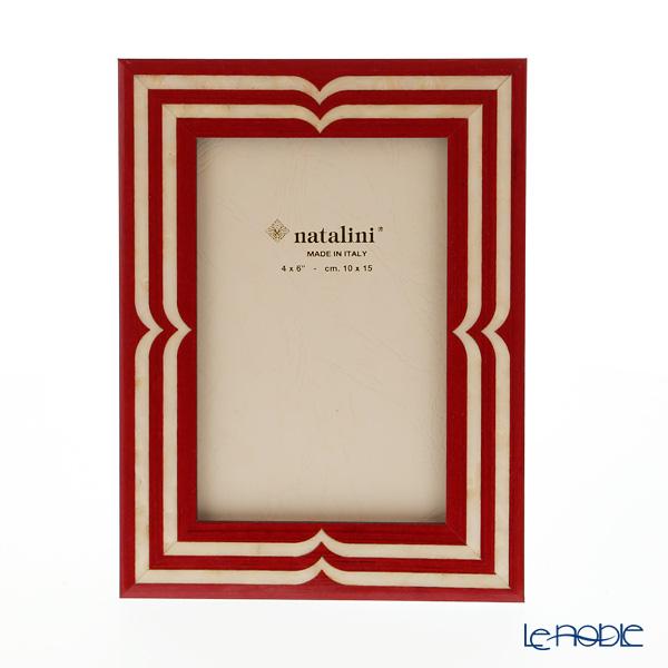 ナタリーニ 象嵌フォトフレーム 10×15cm ベラッジオ レッド