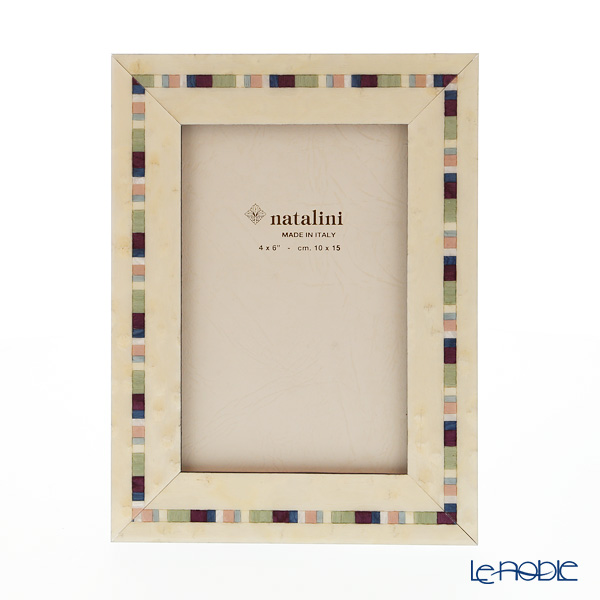 ナタリーニ 象嵌フォトフレーム 10×15cm トレビ ホワイト