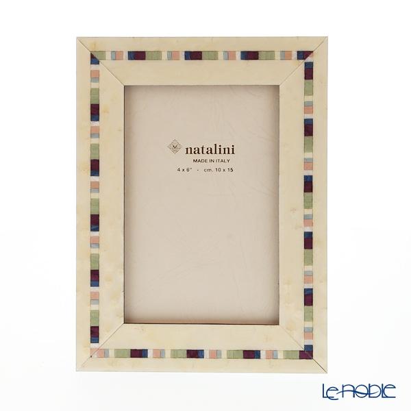 Natalini 'Trevi' White Italian Marquetry Picture Frame