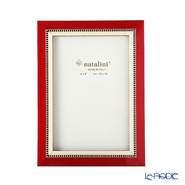 Natalini 'Miky' Red Italian Marquetry Picture Frame
