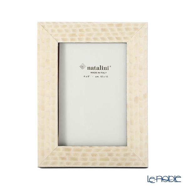 Natalini 'Eris' Cream White Italian Marquetry Picture Frame