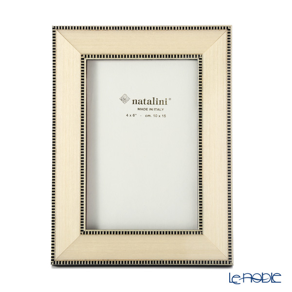 Natalini 'RT/30' White with Black Line Italian Marquetry Picture Frame