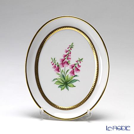 アウガルテン(AUGARTEN) メドウフラワーズ(6314H) ジギタリス スモールディッシュ(飾り皿) 12cm(841)
