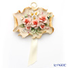 Capodimonte porcelain flowers wall decoration F429 rose bouquet pink M