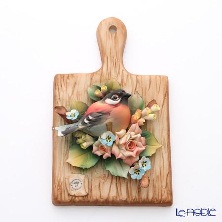 Capodimonte porcelain flower Board rectangular T20 bird